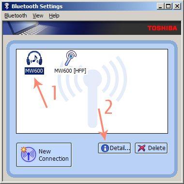 Главное окно программы Bluetooth Stack