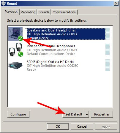 Настройка вывода звука в Windows